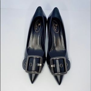Browns Couture Black Leather Pumps made in…